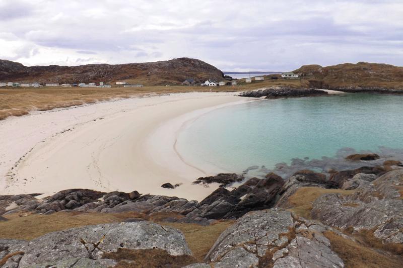 achmelvich beach północna szkocja north coast 500 road trip atrakcje