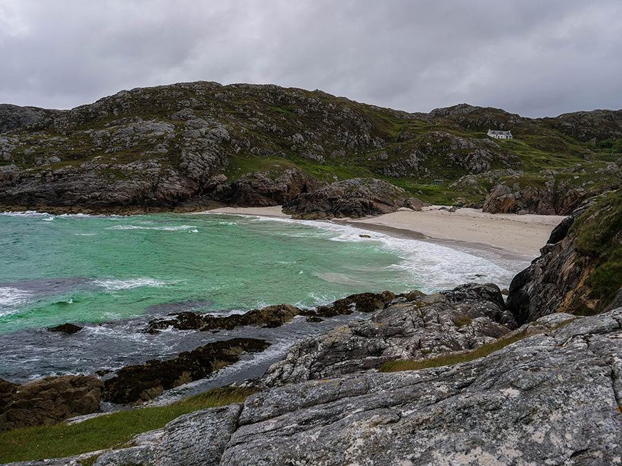 achmelvich bay beach najpiękniejsza plaża w Szkocji