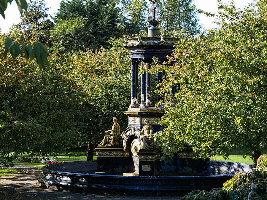 alexandra park fontanna w glasgow