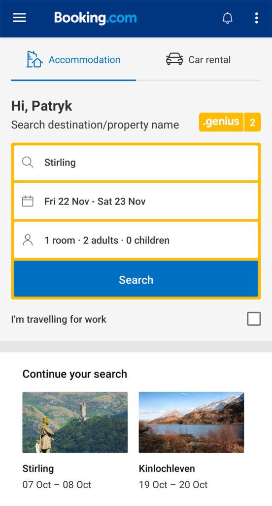 Aplikacje niezbędne w podróży noclegi booking.com