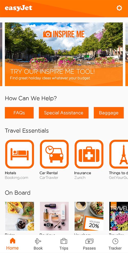 Aplikacje niezbędne w podróży transport biety lotnicze easyjet