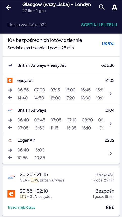 Aplikacje niezbędne w podróży transport planowanie podróży skyscanner