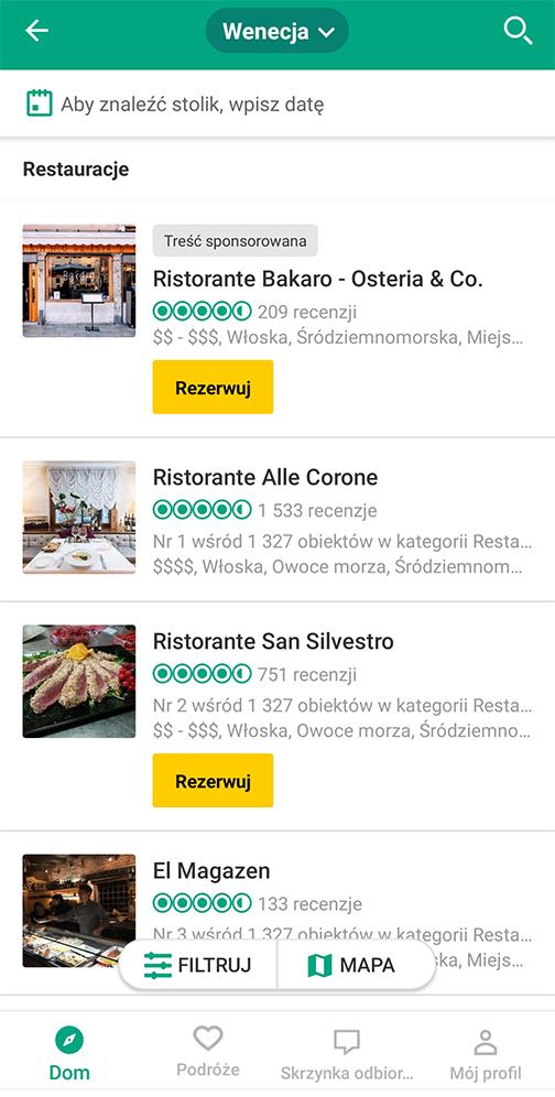 Aplikacje niezbędne w podróży tripadvisor atrakcje restauracje