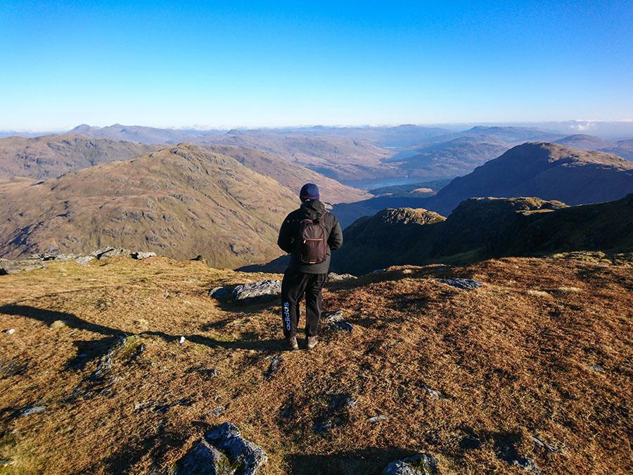 beinn ime munro bagging w szkocji atrakcje góry loch lomond