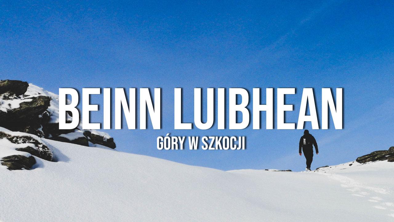 Beinn Luibhean - zimowe wejście na szczyt
