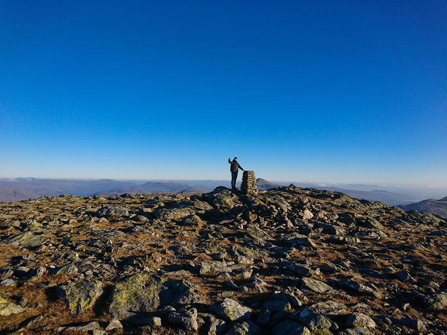 beinn narnain munro bagging w szkocji atrakcje góry loch lomond