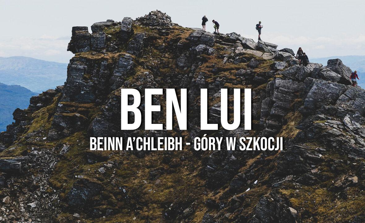 ben lui góry w Szkocji loch lomond