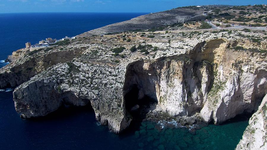 blue grotto drone malta