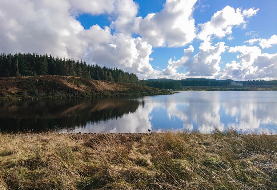 Burncrooks Reservoir szkocja wild camping loch lomond
