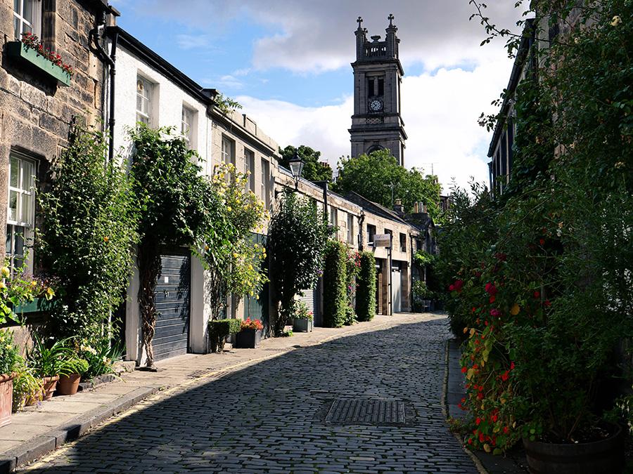 Circus Lane - Instagramowe miejscówki w Edynburgu