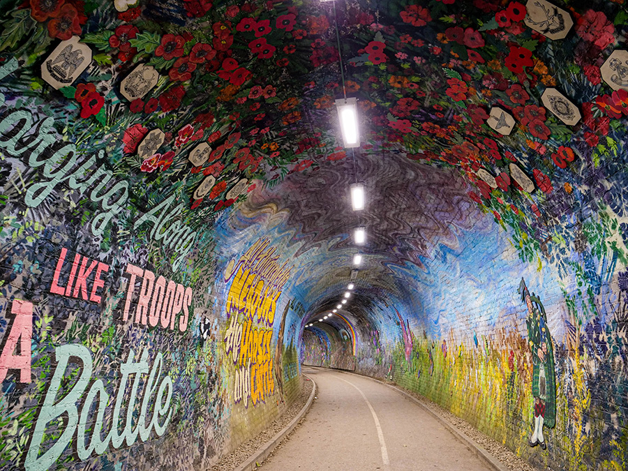 Colinton Tunnel - street art w Edynburgu