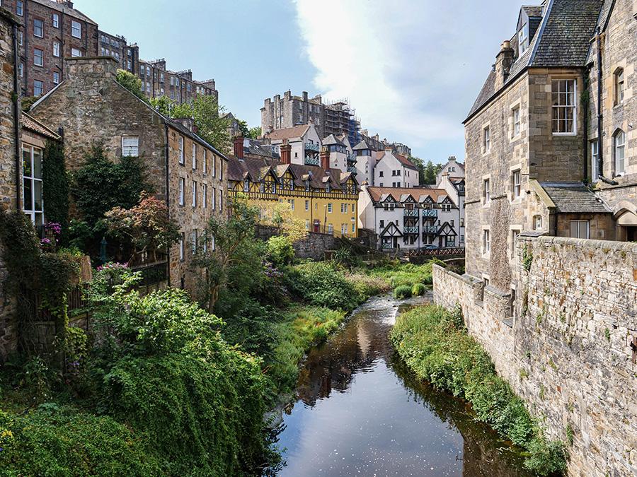 Dean Village mniej znane atrakcje Edynburg