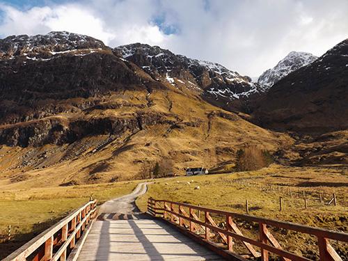 dolina glen coe i potężne góry