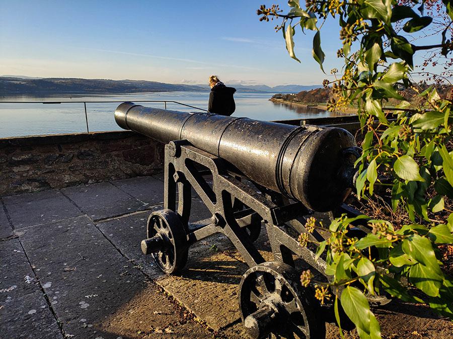 zamek dumbarton castle zamki w szkocji spanish and bower batteries