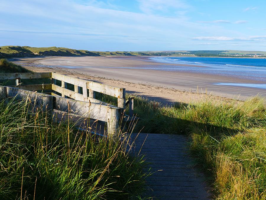dunnet beach wild camping w szkocji
