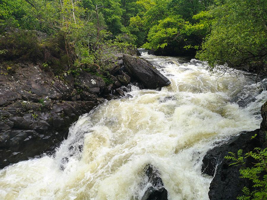 wodospady Falls of Leny szkocja