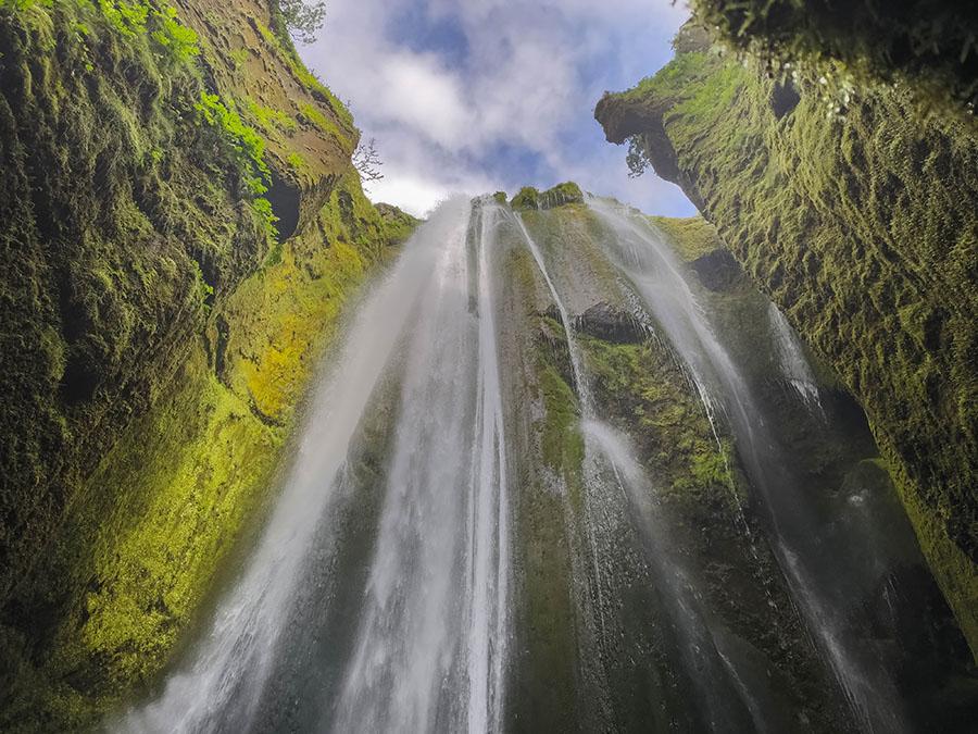 gljufrafoss wodospad islandia
