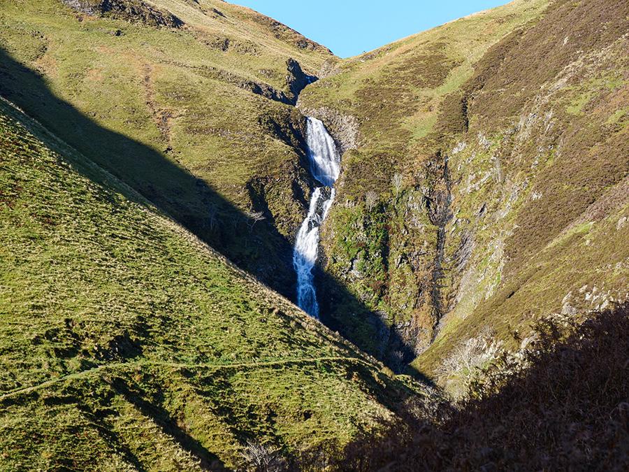 Grey Mare's Tail - 10 najwyższy wodospad w Wielkiej Brytanii