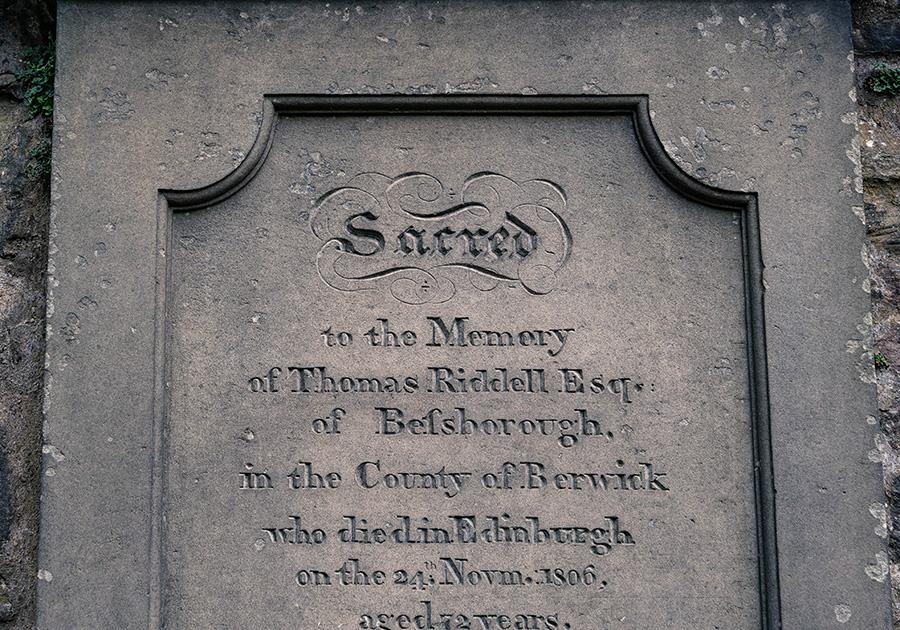 Edynburg grób Toma Riddlea Greyfrairs Kirkyard
