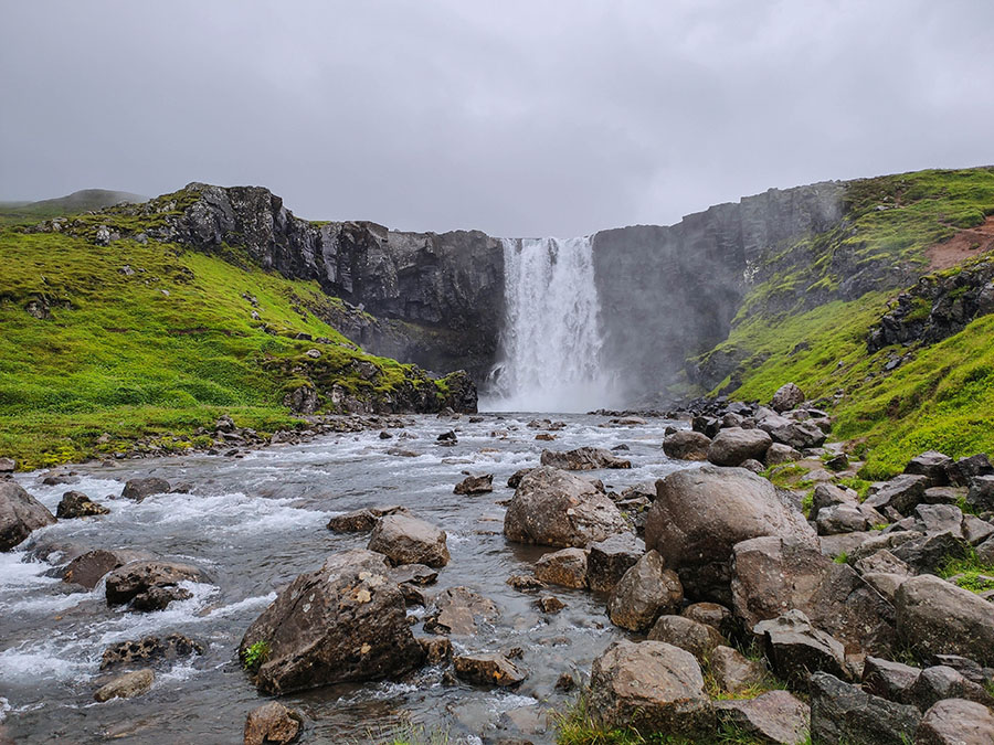 gufufoss wodospad islandia