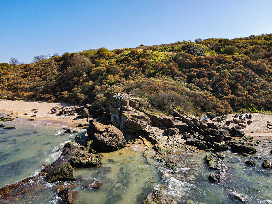 Gullane Beach plaże w Szkocji okolice Edynburga