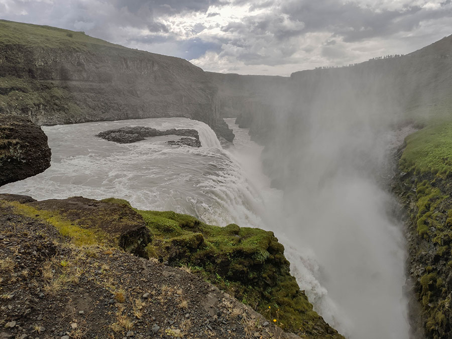 gullfoss wodospad islandia