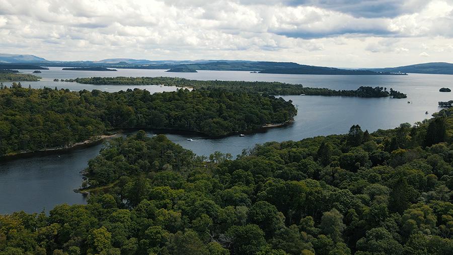 wyspy na jeziorze Loch Lomond