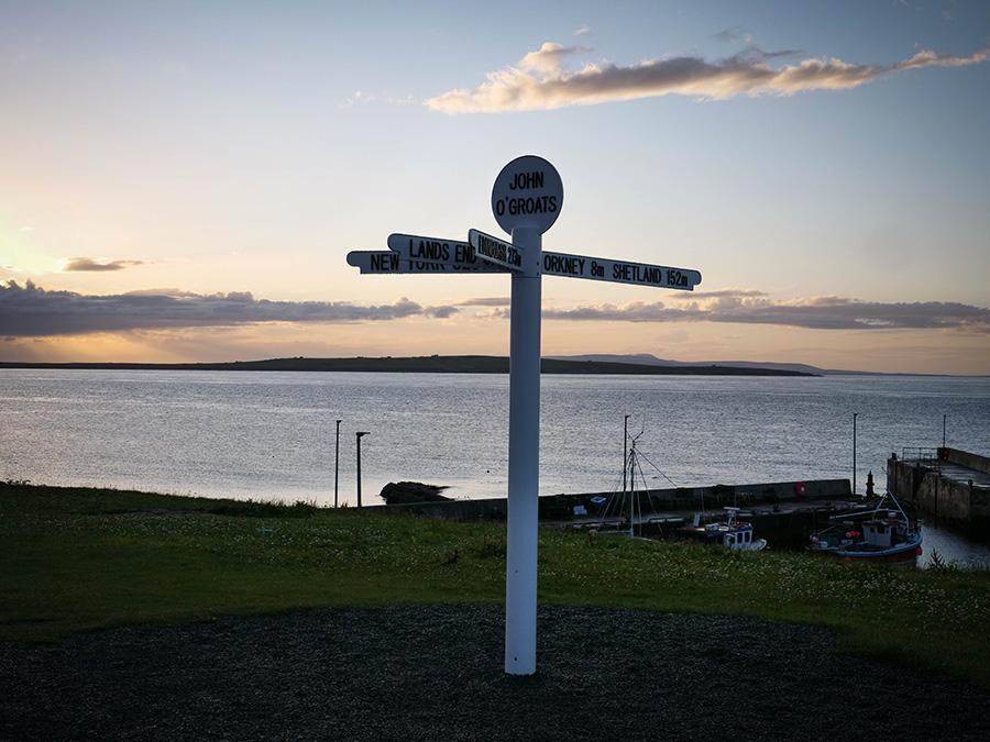 John O'Groats signpost north coast 500