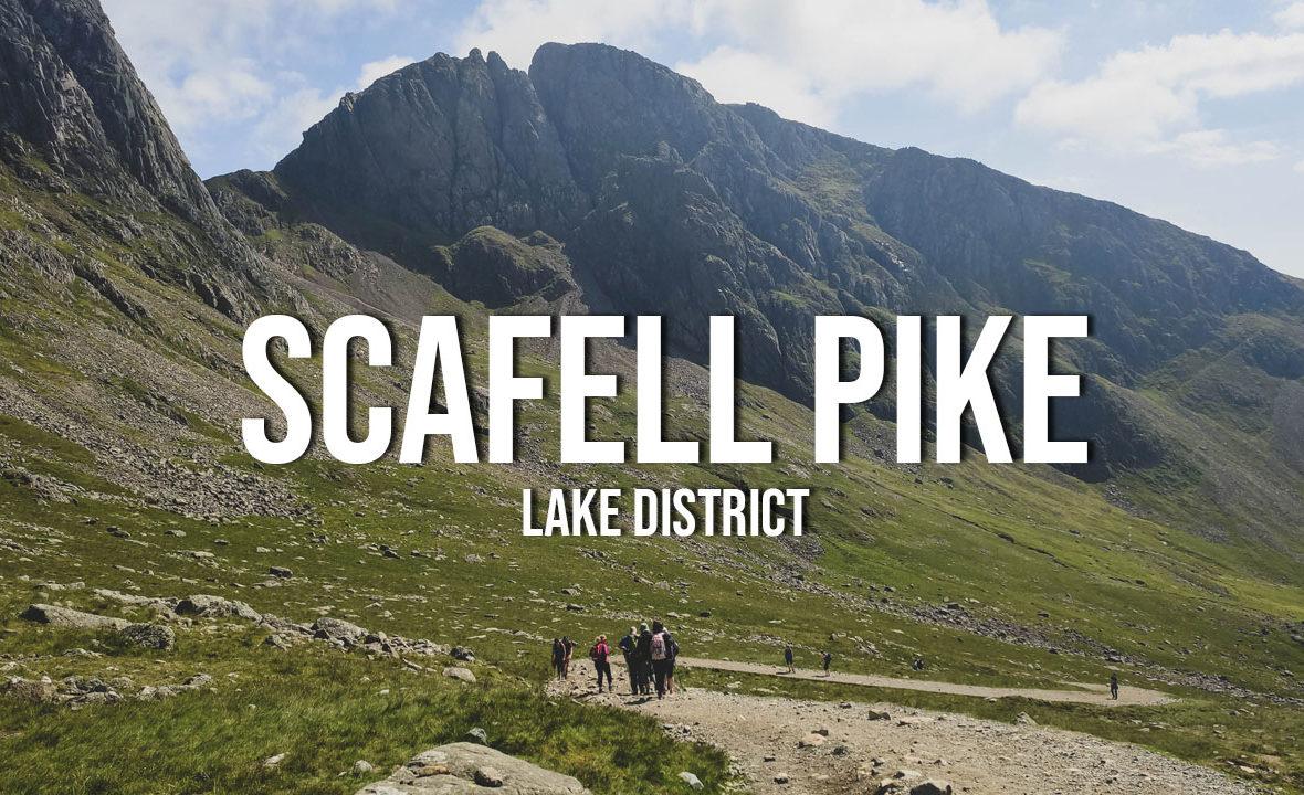 lake district scafell pike wspinaczka trasa na szczyt