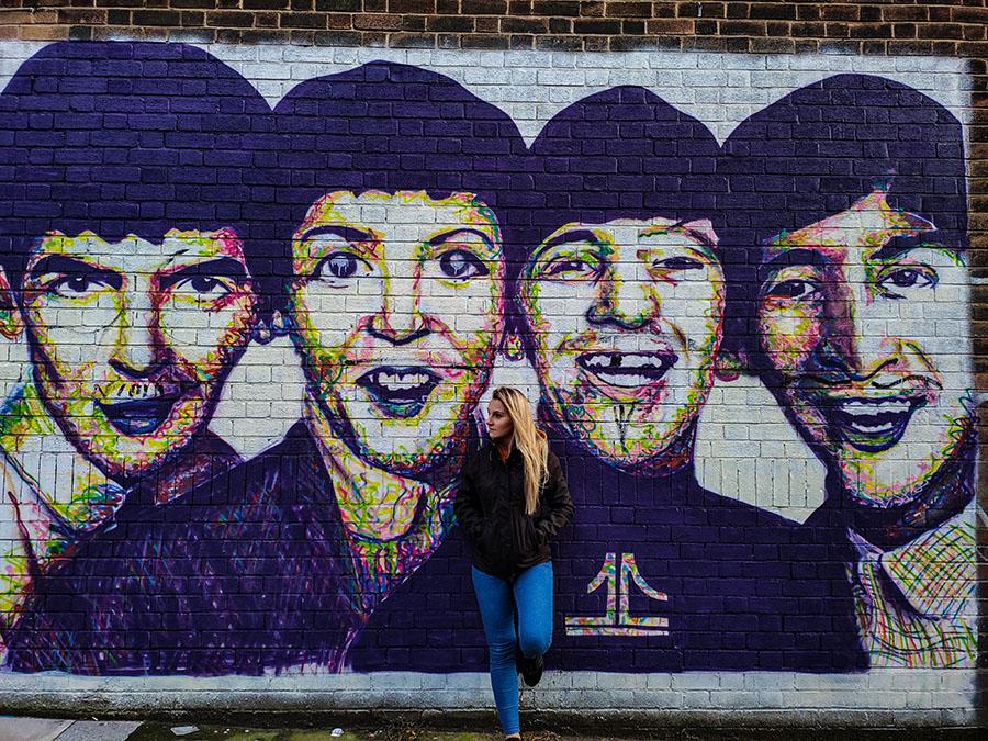 baltic trangle liverpool street art mural the beatles