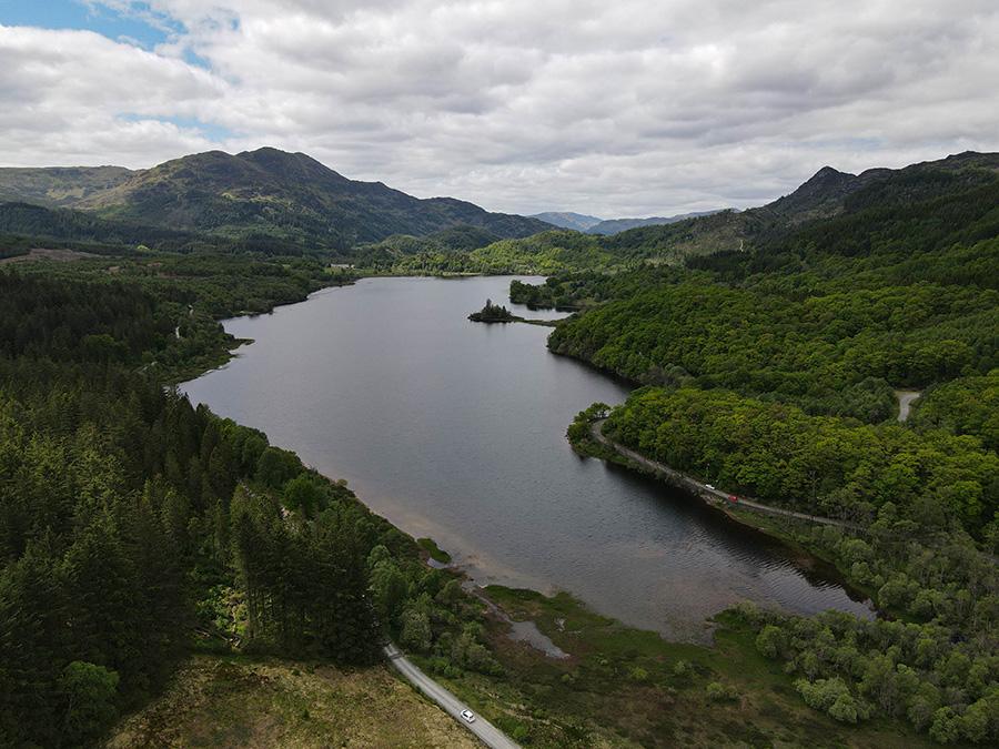 Loch Achray - ukryte perełki w Szkocji