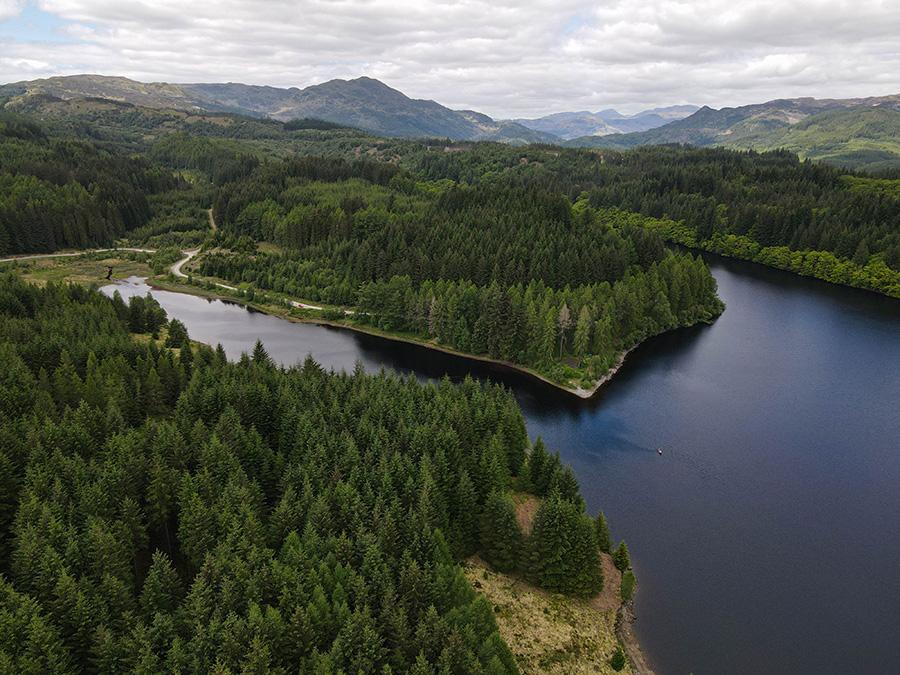 Loch Drunkie - ukryte perełki w Szkocji