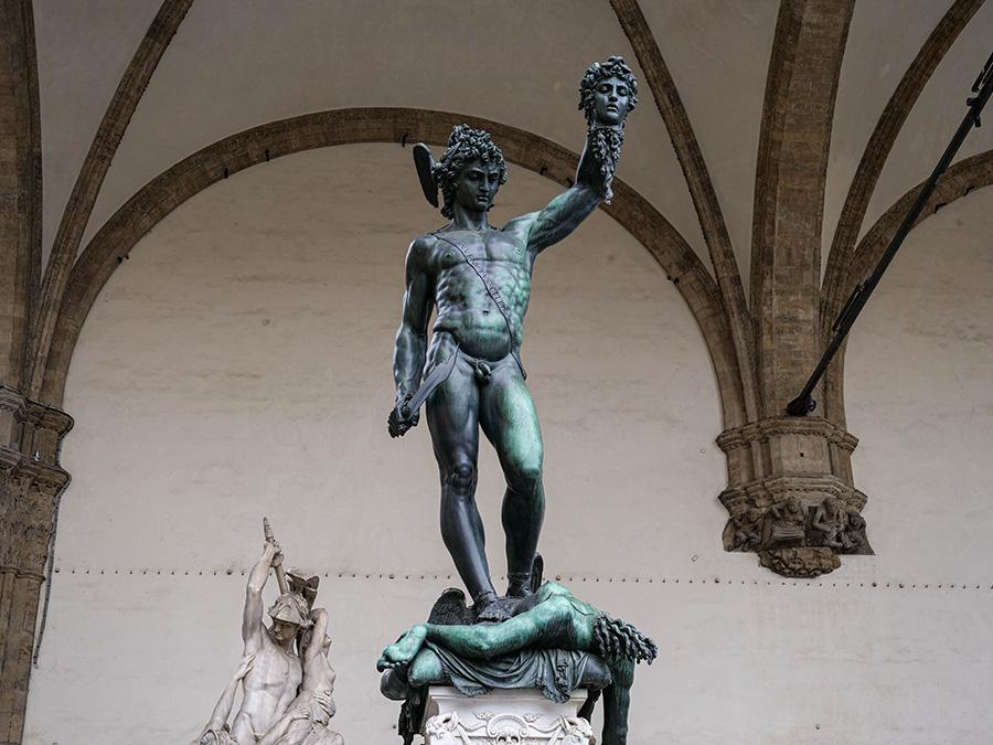 Piazza della Signoria atrakcje we Florencji Loggia dei Lanzi