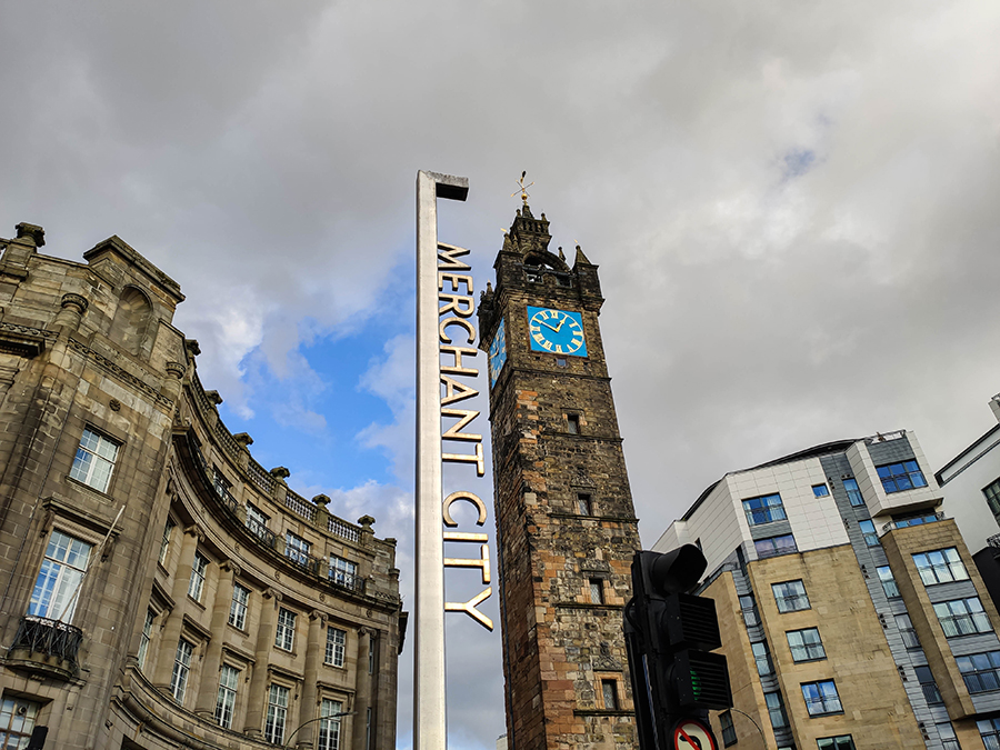 glasgow atrakcje merchant city clock tower