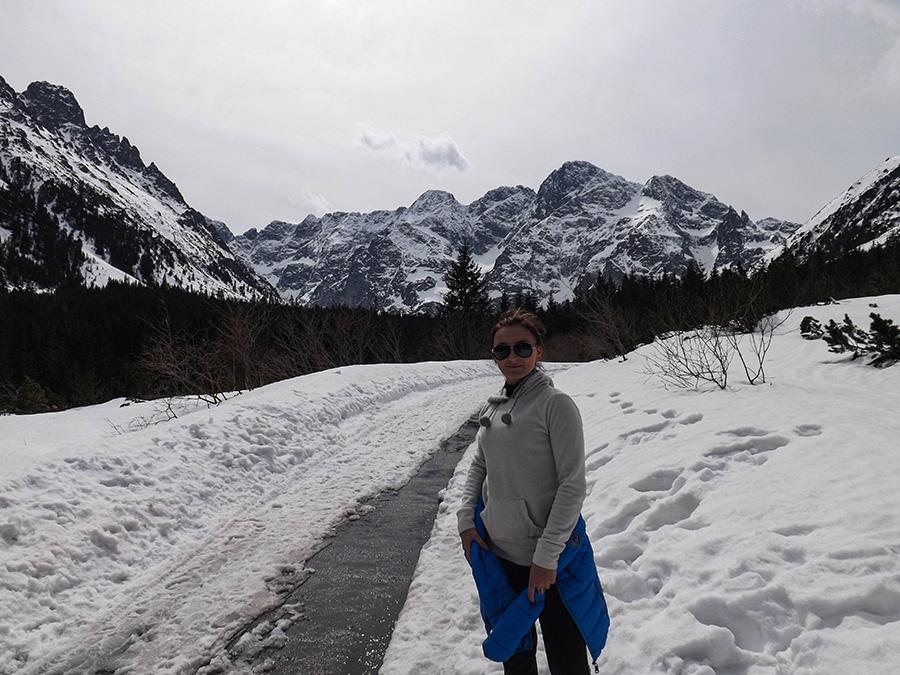 Morskie Oko - piękne góry i zima w Tatrach