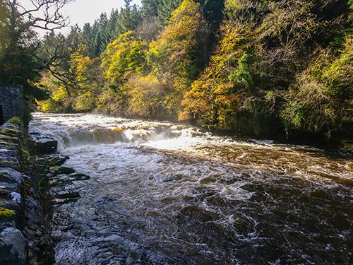 new lanark wodospady południowa szkocja