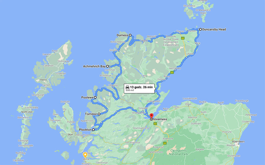 north coast 500 trasa jak wygląda
