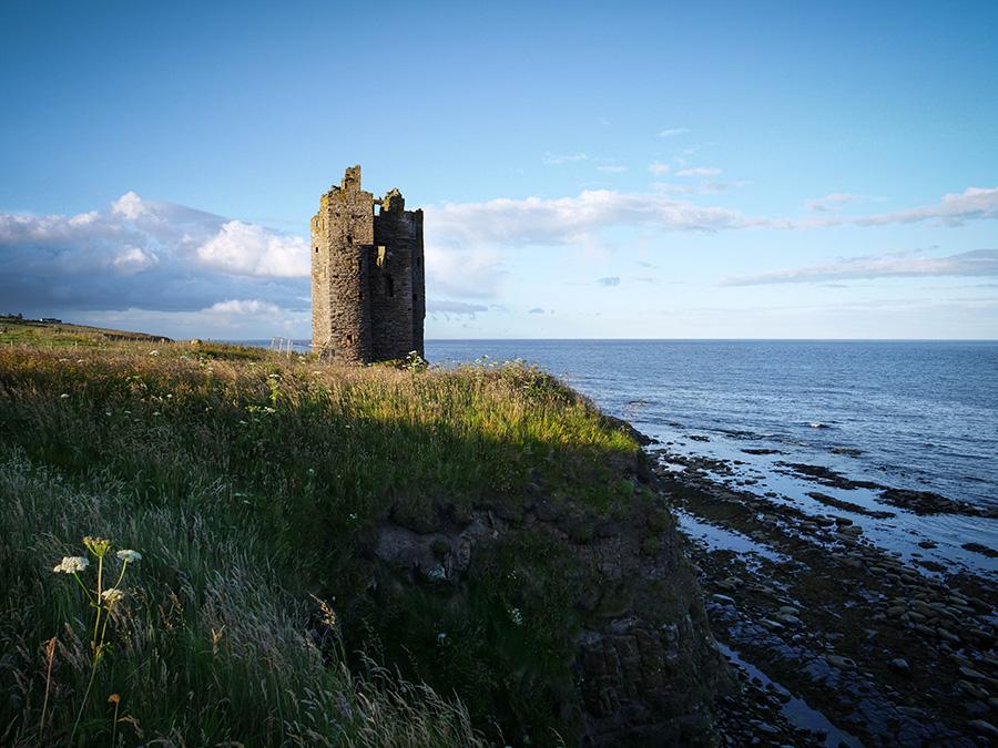 Old Keiss Castle north coast 500 co zobaczyć