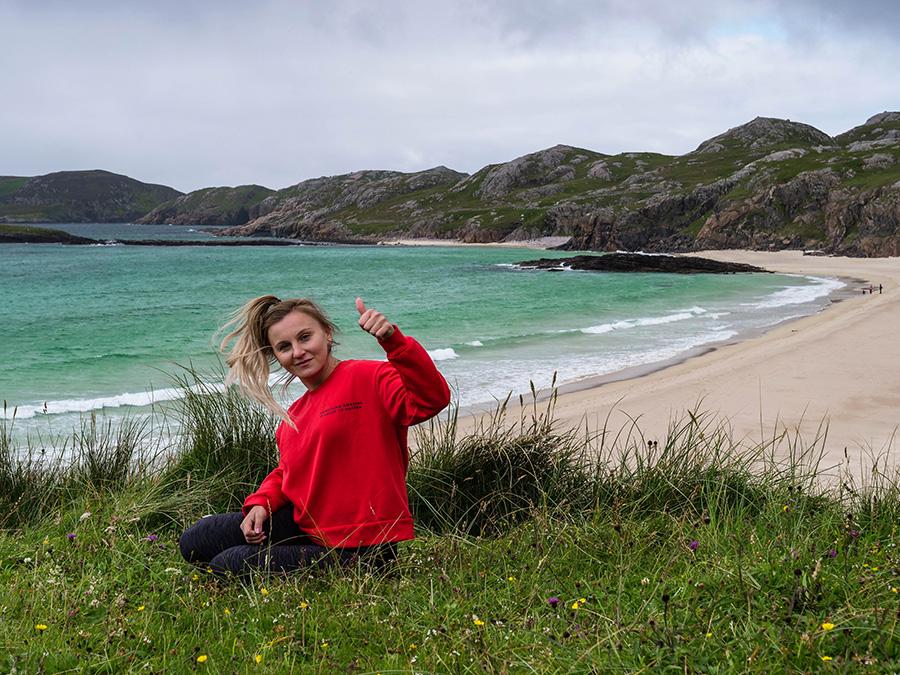oldshoremore beach ukryte perełki w Szkocji