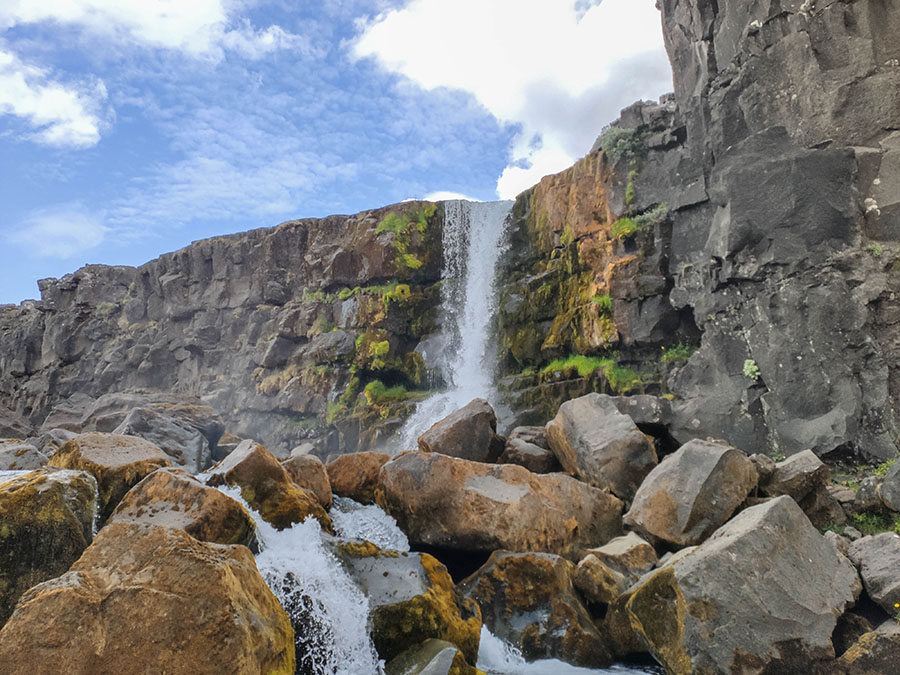 oxararfoss wodospad islandia
