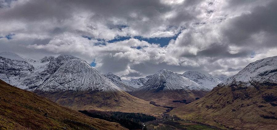 góry w szkocji zimą glencoe