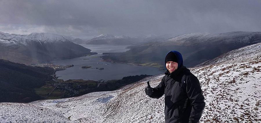 góry w szkocji zimą