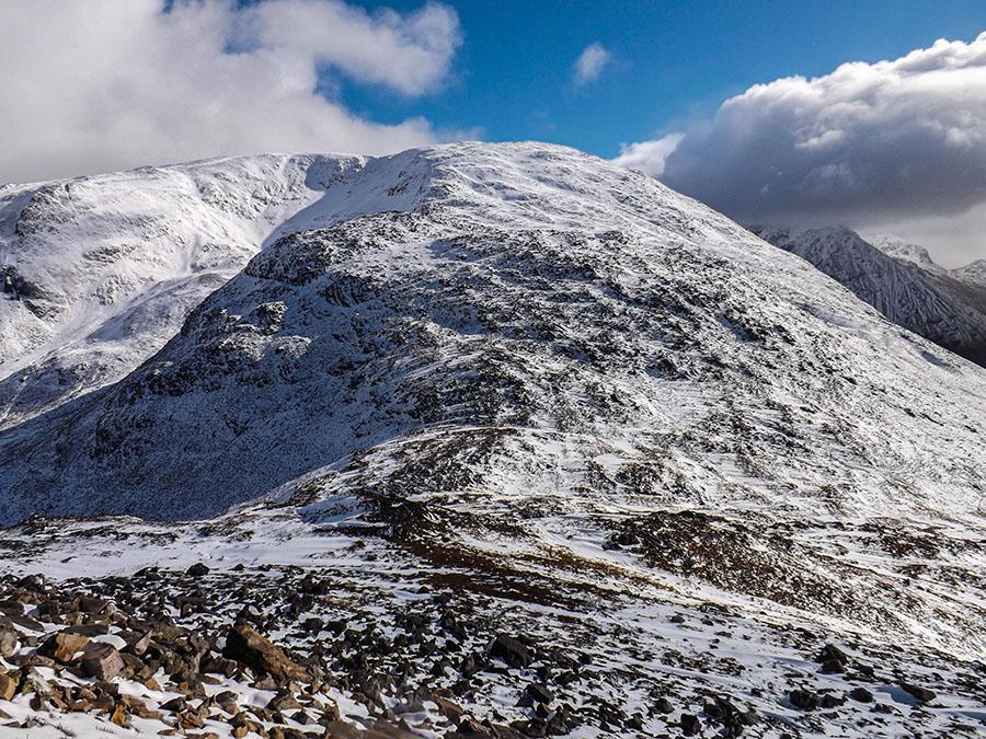 pap of glencoe szkocja góry zima