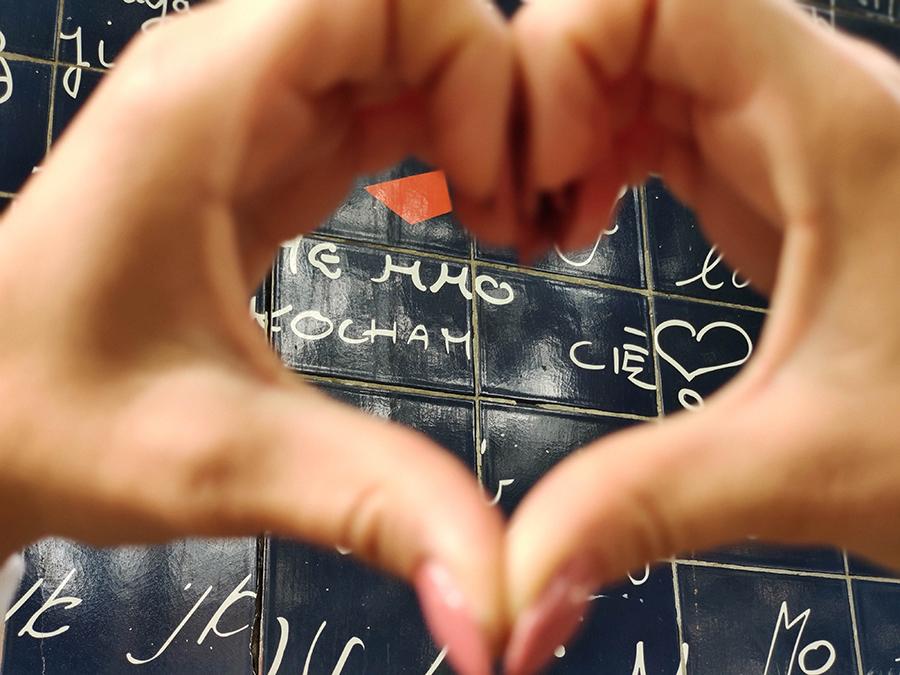 paryż ściana miłości
