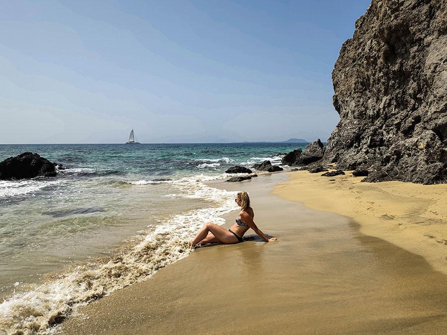playa caleta del congrio plaże na lanzarote