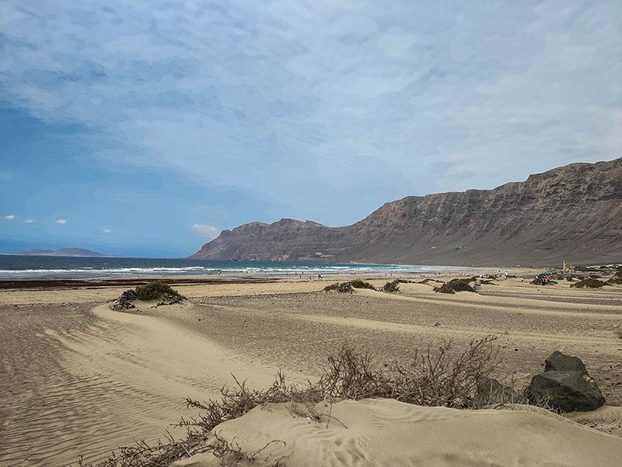 playa de famara plaże na lanzarote