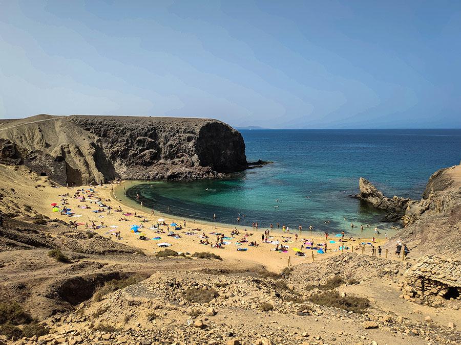 playa papagayo plaże na lanzarote