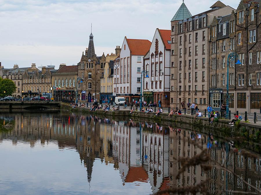 dzielnica portowa Leith mniej znane atrakcje Edynburg