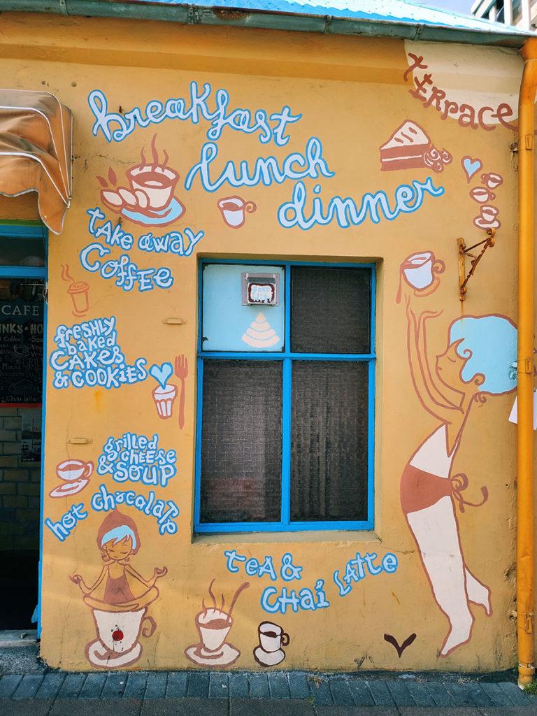 reykjavik kolorowe restauracja i kawiarnie