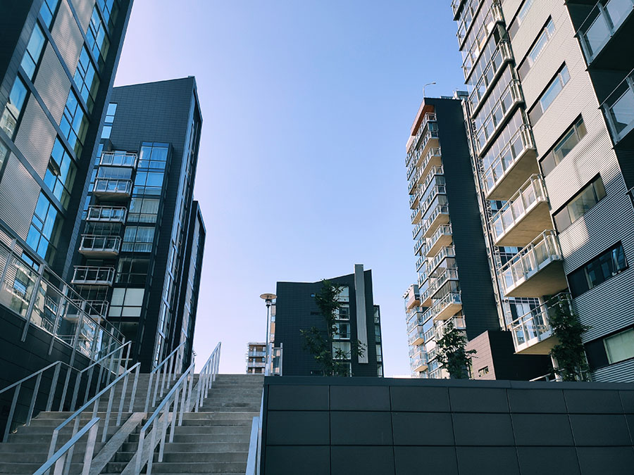 reykjavik nowoczesne budynki